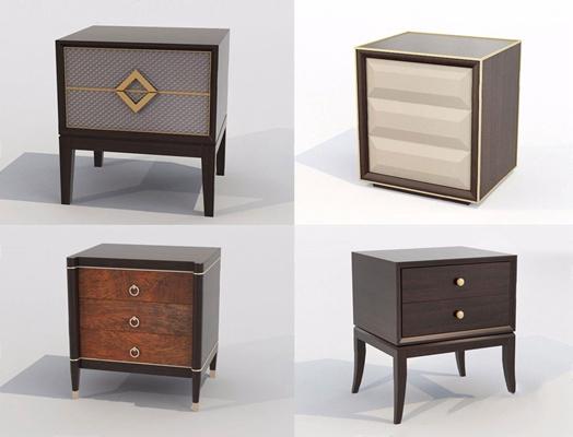 新古典床头柜3D模型【ID:928193662】