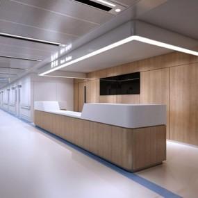 医院走廊3D模型【ID:928335645】