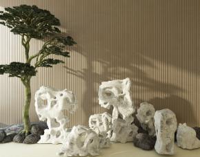 新中式假山树组合3D模型【ID:127752856】