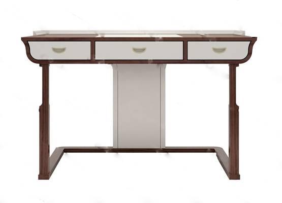 中式书桌3D模型下载【ID:319454717】