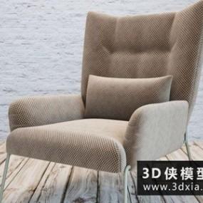 现代休闲椅国外3D模型【ID:729609822】