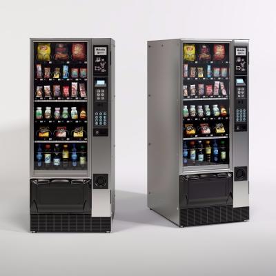 现代饮料自动售货柜3D模型【ID:127765218】