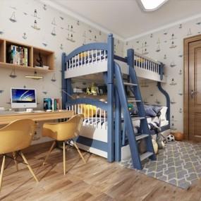 北欧儿童房3D模型【ID:127870201】