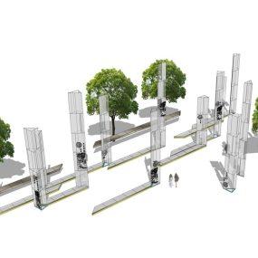 景观雕塑组合SU模型【ID:636675649】