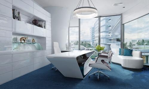 现代办公室3D模型【ID:720800683】