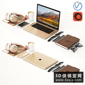 蘋果電腦國外3D模型【ID:129445753】