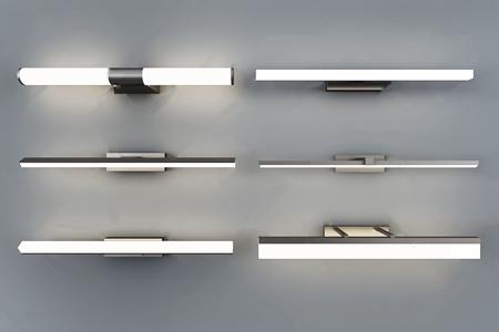 現代鏡前燈組合3D模型【ID:734674968】