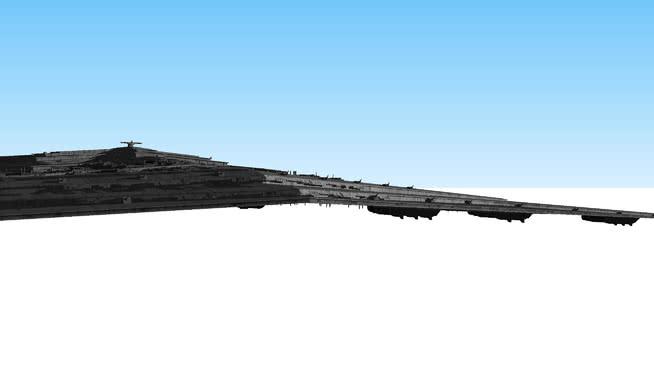 不祥?#27169;?#24040;型)级歼星舰,霸主(素描版)SU模型【ID:840117462】