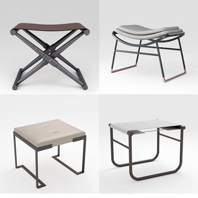 新中式凳子脚踏组合3D模型【ID:427974316】