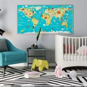 北欧婴儿床3D模型【ID:728096151】