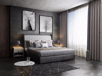 现代卧室3D模型【ID:428268386】