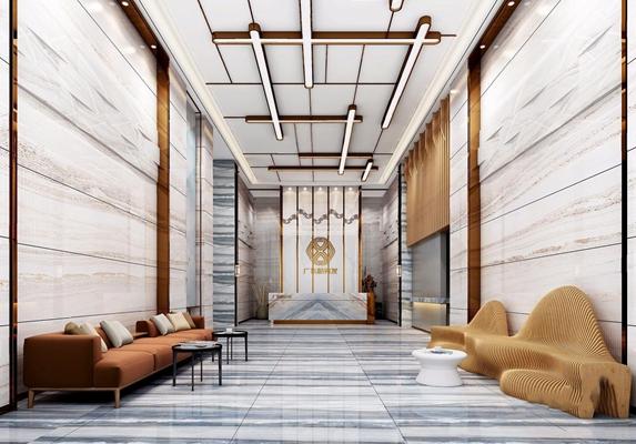 现代酒店大厅3D模型【ID:427976210】