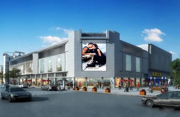 现代商业街3D模型【ID:220016881】