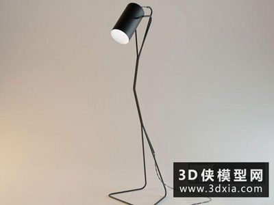 现代落地灯国外3D模型【ID:929422066】