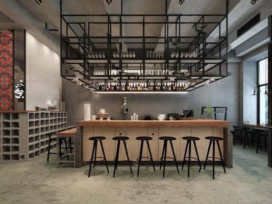 现代咖啡厅3D模型【ID:324894638】