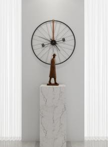 現代金屬雕塑時鐘3D模型【ID:327784846】