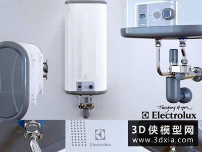 热水器国外3D模型【ID:129348710】