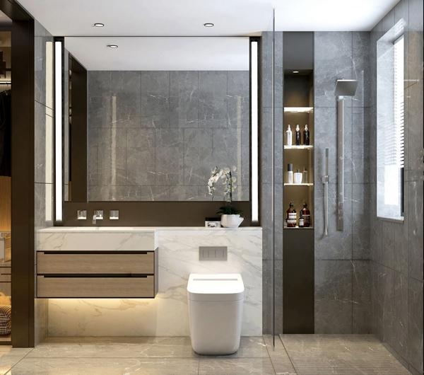現代衛生間浴室3D模型【ID:547087573】