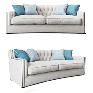 简欧?#23478;?#21452;人沙发3D模型【ID:931407775】