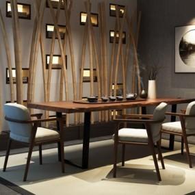 新中式茶室3D模型【ID:127846939】