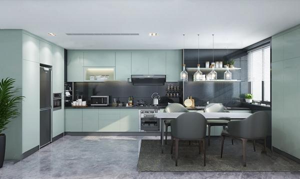 現代輕奢廚房餐廳3D模型【ID:546657354】
