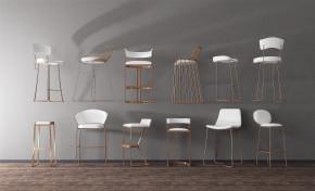 后现代金属吧椅组合3D模型【ID:327784176】
