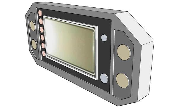 2004雅�R哈�锔��x表控制面板SU模型【ID:840124502】