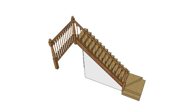 楼梯SU模型【ID:538605025】