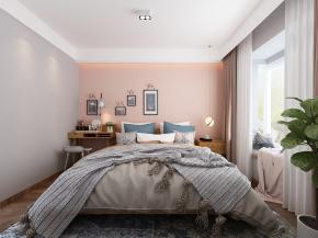 北欧卧室双人床3D模型【ID:927831518】