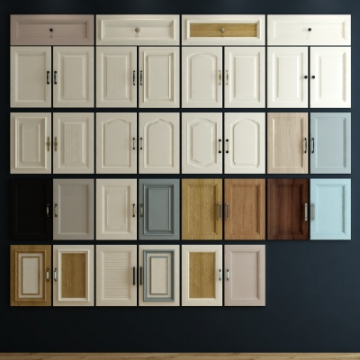 现代厨柜门组合3D模型【ID:727812507】
