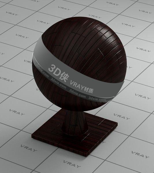 褐色木地板Vray材质【ID:736487318】