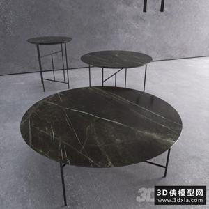 現代茶幾國外3D模型【ID:829311124】
