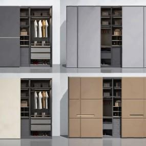 现代轻奢意式衣柜组合3D模型【ID:920823911】