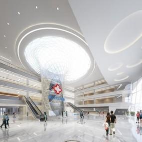 现代医院大厅3D模型【ID:928174609】