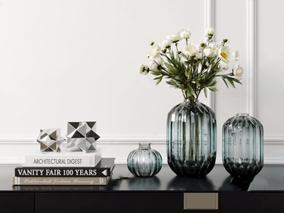 北欧玻璃花瓶摆件3D模型【ID:232391548】