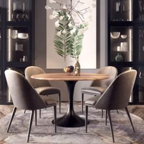 现代餐桌椅组合3D快三追号倍投计划表【ID:834674824】