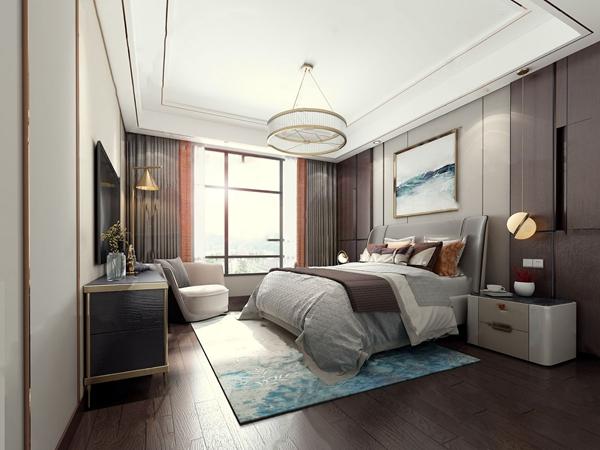現代輕奢臥室3D模型【ID:545862239】
