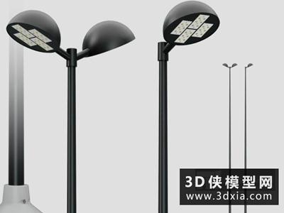 路灯国外3D模型【ID:929452251】