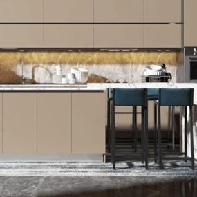 新中式厨房 3D模型【ID:541471350】
