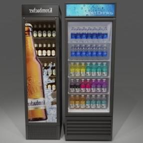 现代饮料冰柜组合3D模型【ID:127755227】