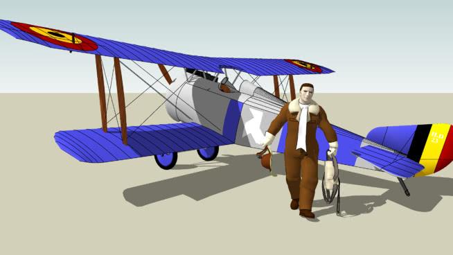 比利时空军?#21495;?#23041;杜邦HD-1与比利时王牌WillySU模型【ID:840130541】