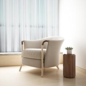 意大利Giorgetti现代单人沙发3D模型【ID:928561677】