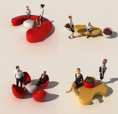 现代户外椅3D模型【ID:324892314】