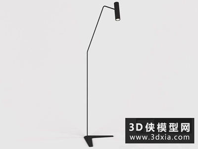 現代落地燈國外3D模型【ID:929375077】