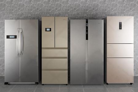 美的电冰箱组合3D模型【ID:828327370】