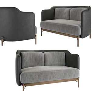 现代双人沙发3D模型【ID:634508508】