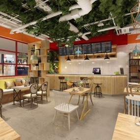 loft饮品店3D模型【ID:528016542】