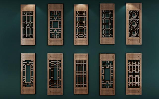古典中式窗戶3D模型【ID:528042092】