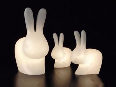 北歐兔子臺燈3D模型【ID:832394178】