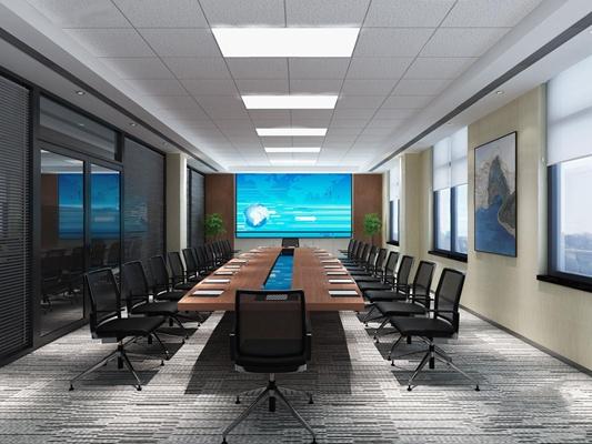 现代小会议室3D模型【ID:728099824】